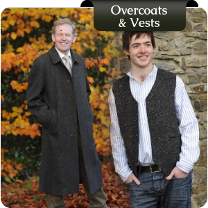 Irish Tweed Vests & Overcoats from Murphy of Ireland