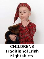 Childrens Traditional Irish Flannel Nightshirts