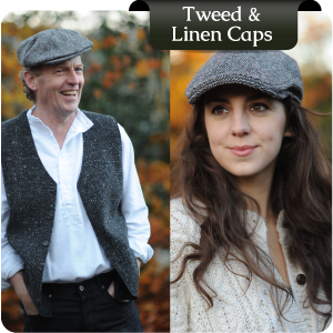 Irish Tweed Caps for Men & Women