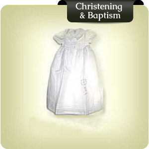 Linen christening gowns, romper suits, bonnets and booties