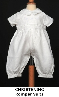 Irish Christening and Baptism Romper Suits