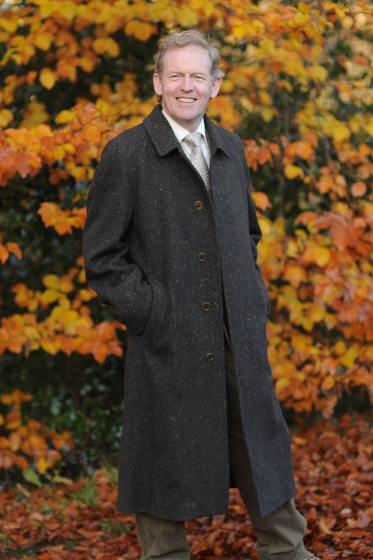 Connemara Tweed Overcoat - Irish Bracken