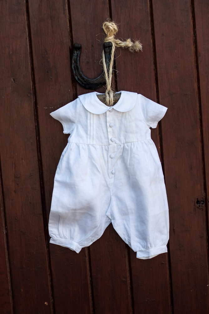 572214ad9d39 Pintuck Romper Christening Outfit