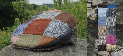 Donegal Tweed Patchwork Scarf and Cap Set