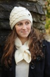 Erin Handknit Cable Hat & Bow Scarf