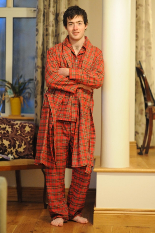 Pajamas and Dressing Gown Set |