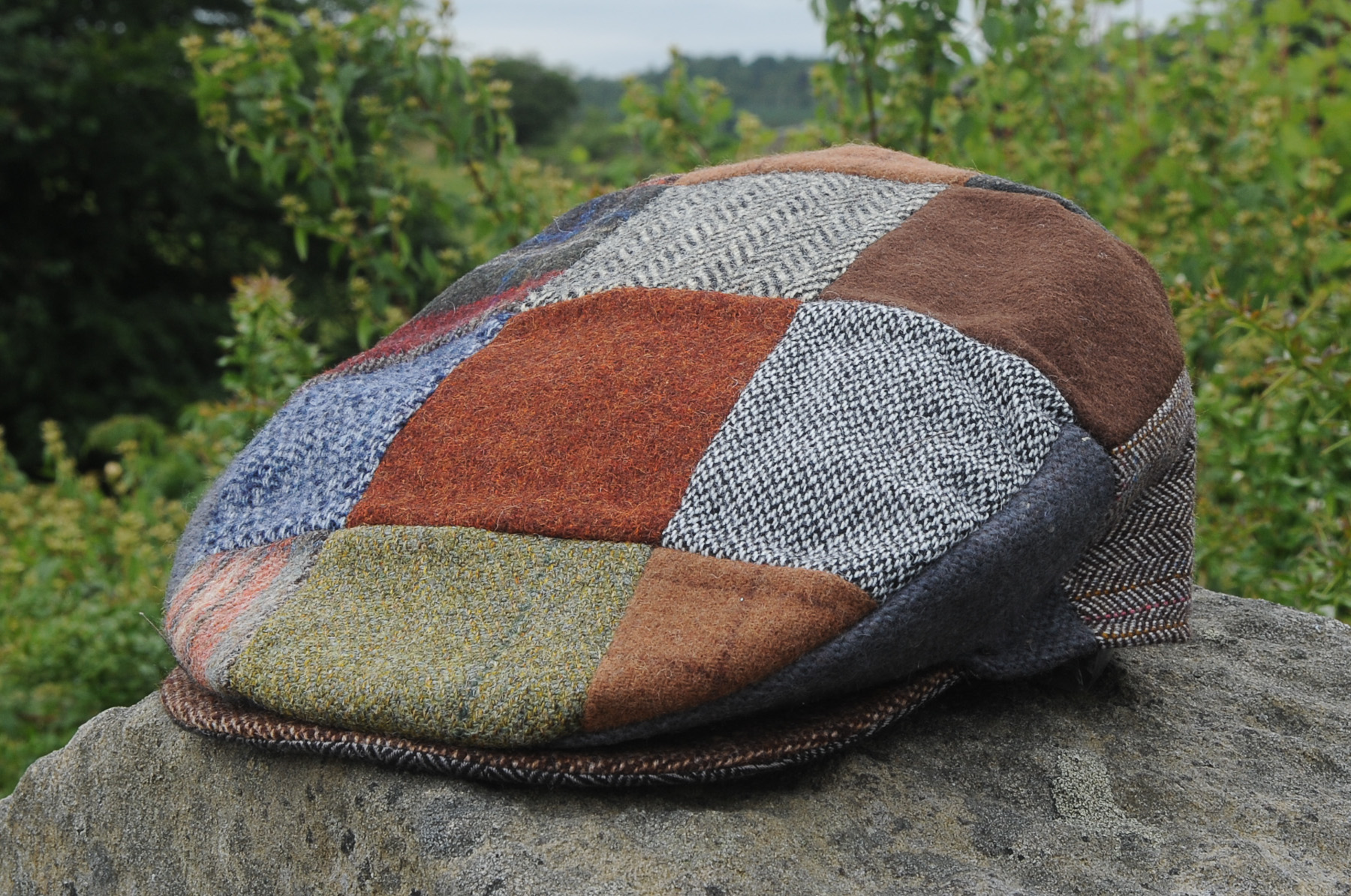 8d114d71 Ladies Patchwork Tweed Cap